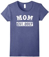 Women's Mom 2017 Shirt: Baby Announcement Established Spoiling Idea Small