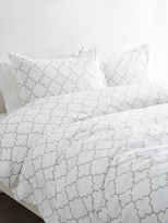 Melange Home Lattice Duvet Set
