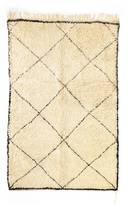 """Indigo&Lavender Beni Ourain Moroccan Berber Rug - Quintus 5'3"""" x 8'"""