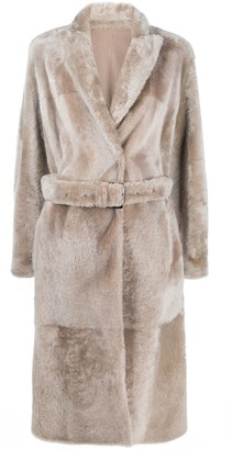 Brunello Cucinelli Belted Single-Breasted Coat