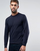 Paul Smith Crew Knit Sweater in Navy