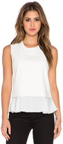 Central Park West Banff Layered Faux Leather Tank