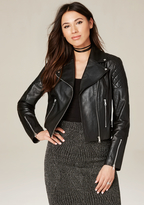 Bebe Diamond Quilted Moto Jacket