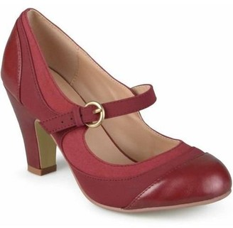 Brinley Co. Women's Tweed Two-Tone Mary Jane Pumps