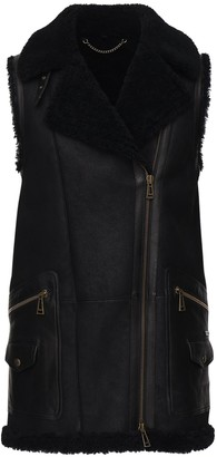 Belstaff Leather & Shearling Piper Vest