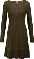 M Missoni Intarsia-knit stretch wool-blend mini dress