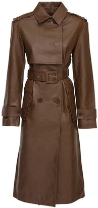 Remain Pirello Leather Trench Coat W/ Belt