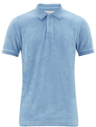 Orlebar Brown Jarrett Terry Cotton Polo Shirt - Mens - Blue