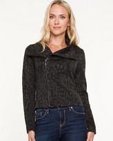Le Château Sweater Knit Moto Blazer