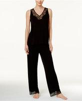 Thalia Sodi Lace-Trimmed Knit Pajama Set, Only at Macy's