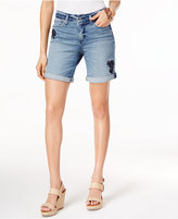 NYDJ Jessica Embroidered Denim Shorts