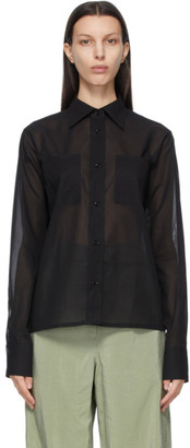 Lemaire Black New Pointed Collar Shirt