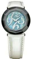 Jowissa Women's J1.165.L Safira 24 Mother-of-Pearl Dial White Leather Watch