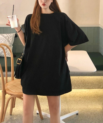 Amato Rizzi Women's Tee Shirt Dresses Black - Black & Gray Bandaged Bear T-Shirt Dress - Women