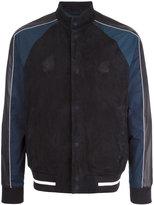 Emporio Armani leather bomber jacket - men - Goat Skin/Lamb Skin/Polyester/Spandex/Elastane - M