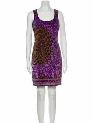 Versace Animal Print Mini Dress w/ Tags Brown