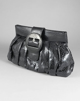 Snake-Embossed Clutch