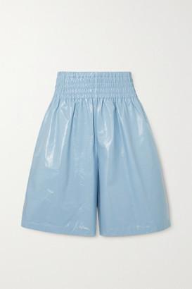 Bottega Veneta Leather Shorts - Blue