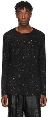 Comme des Garcons Black Sequin Crewneck Sweater