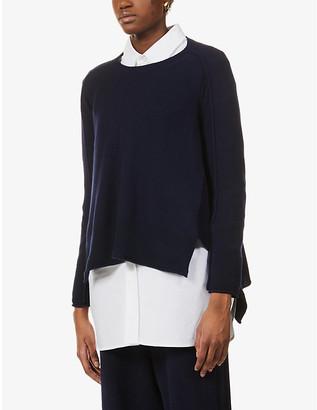Stella McCartney Boat-neck cashmere-blend jumper