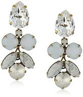"Sorrelli Pearl Luster"" Crystal Lotus Flower Drop Earrings"