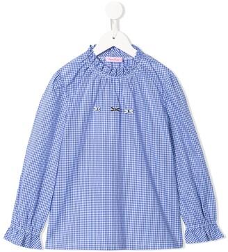 Familiar gingham check blouse