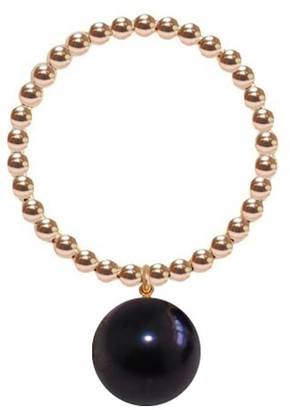Ring Black Gold Orb Pearl