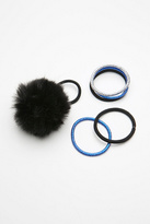 Free People Faux Fur Pom Hair Tie Set