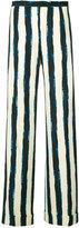 Alberta Ferretti striped palazzo trousers