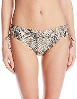 Calvin Klein Women's Snake-Print Side-Shirred Hipster Bikini Bottom