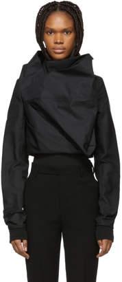 Rick Owens Black Stalacmite Bomber Jacket