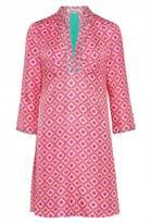 Libelula Beach Dress - Navarro Print - Hot Pink