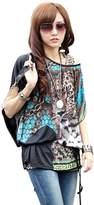 fashionbeautybuy Women Blouses Girls Loose Tees Beach Shirt Batwing Sleeve Casual Tunic Tops Bohemia Shirts