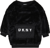 DKNY Faux-fur long-sleeved jumper dress 8-16 years