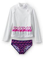Classic Girls Long Sleeve Rashguard Set-Mango Chili