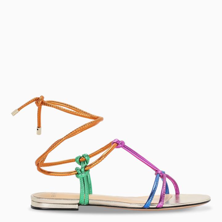 Rebecca multicolor flat sandals