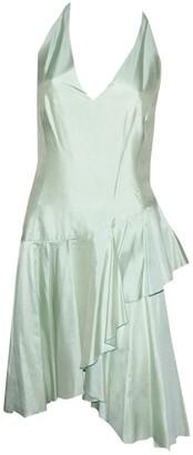 Thierry Mugler Green Silk Dresses