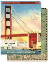 Cavallini & Co. NBSET/SF Papers 96-Page 4 by 5.5-Inch Notebook, San Francisco, Set of 2