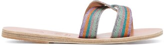 Ancient Greek Sandals x Le Sirenuse Desmos embroidered sandals