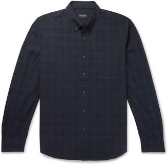 Club Monaco Slim-Fit Button-Down Collar Checked Cotton Shirt