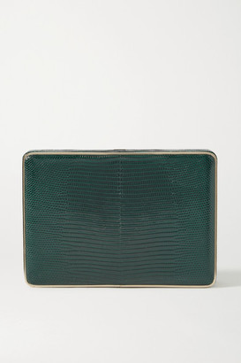 Hunting Season Square Compact Lizard Clutch - Emerald