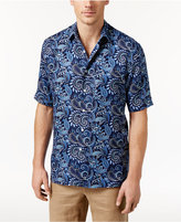 Tasso Elba Men's Short-Sleeve Paisley-Print Shirt, Only at Macy's