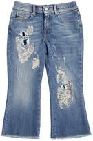 Diesel Sequined Stretch Denim Cropped Jeans