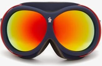 Moncler Logo-jacquard Strap Ski Goggles - Navy Multi