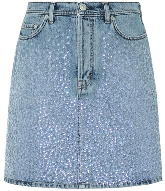 Acne Studios Sharmayne embellished denim skirt