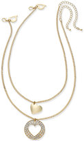 Thalia Sodi Gold-Tone 2-Pc. Set Interlocking Heart Mother Daughter Pendant Necklaces, Only at Macy's