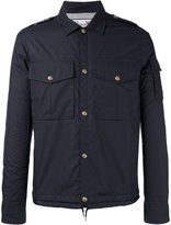 Moncler Gamme Bleu snap button jacket - men - Cotton/Cupro/Feather Down - 3