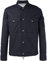 Moncler Gamme Bleu snap button jacket - men - Cotton/Feather Down/Cupro - 3