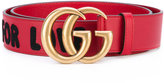 Gucci 'GG' embellished belt - women - Leather - 85