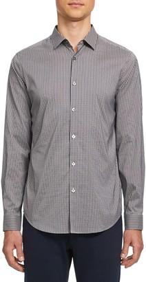 Theory Murray Gingham Long Sleeve Button-Up Sport Shirt